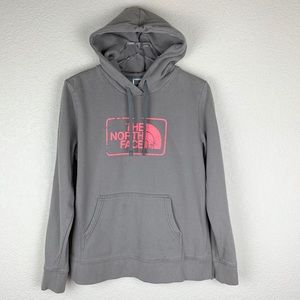 The North Face Stone-Grey Neon Sweatshirt Hoodie L